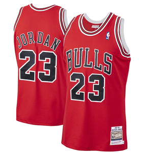 Michael Jordan Chicago Bulls Mitchell & Ness 1997-98 Hardwood Classics Authentic Player Jersey - Red