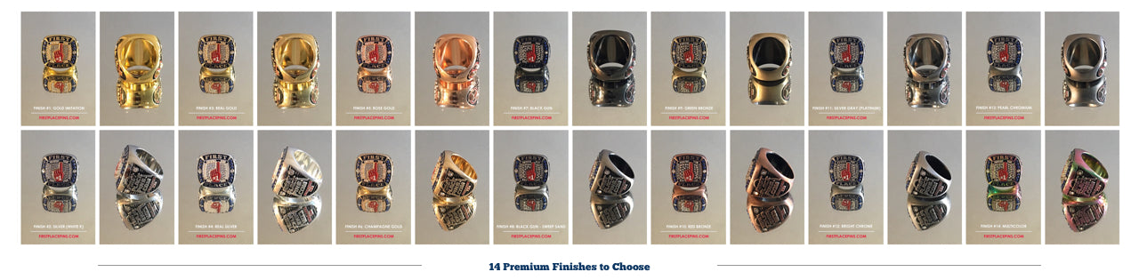 Championship Rings, custom rings, buy championship rings, team rings, baseball championship, tournament rings, tournament champion, baseball tournament, trophy, cost, price, First Place Collectibles