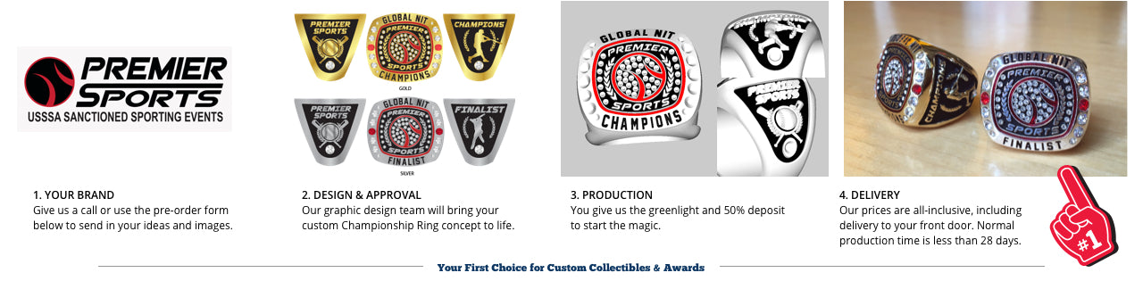Championship Rings, Custom Rings, Tournament Rings, Tournament Trophy, Ring Prices, Trophy Prices, Custom ring price, team ring, class ring, championship team, First Place Collectibles, order championship ring