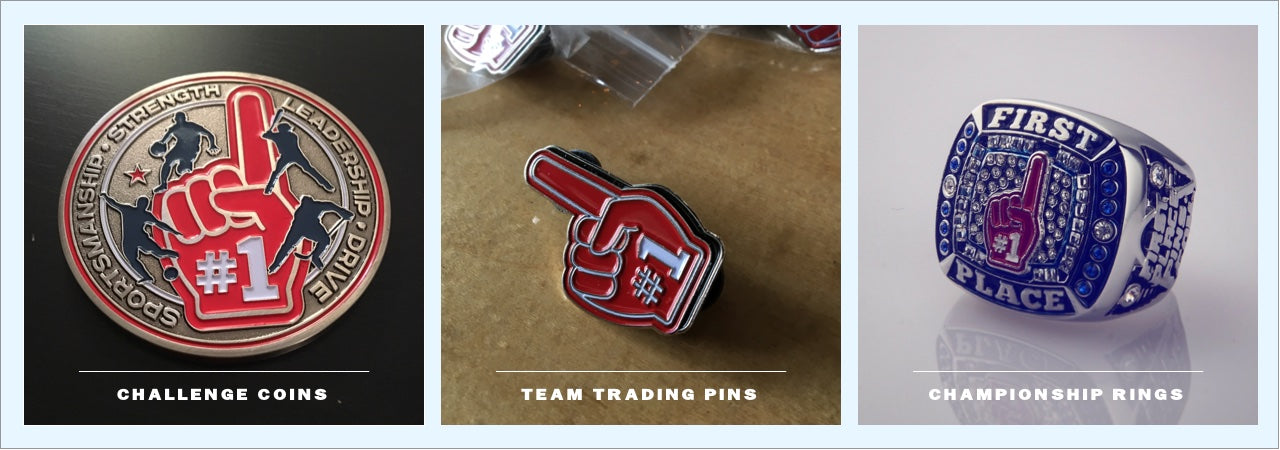 All-American College Baseball Coach Camps – First Place Pins