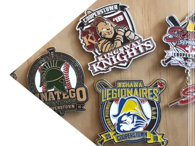 Cooperstown, All Star Village, Trading Pin, Baseball, Pin, Team Pin, Pin Price, Cost, First Place Collectibles, Travel Baseball, Team Trading Pin, Buy Pins, Buy Trading Pins, Cooperstown Trading Pins, Cooperstown Pin