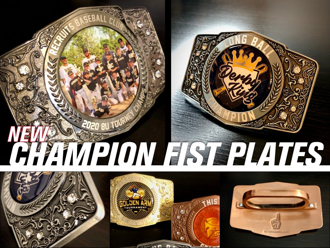 New, First Place Collectibles, Champions, Tournament, Award, Trophy, Fist Plate, Finalist, Runner Up, 1st Place