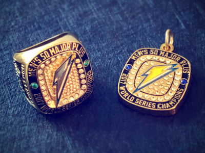 Custom, Championship Rings, Team Rings, Tournament Rings, Dudley Lightning, Softball Championship, ASA, ISA, NSA, Senior Softball, Mens Softball