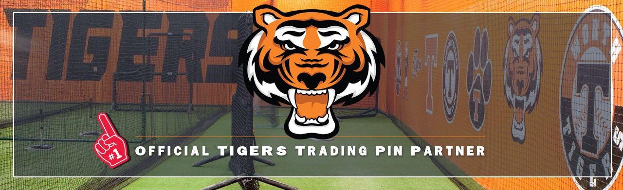 Rawlings Tigers, Baseball, Team Trading Pins, First Place Collectibles, Pin Trading, Custom Trading Pins
