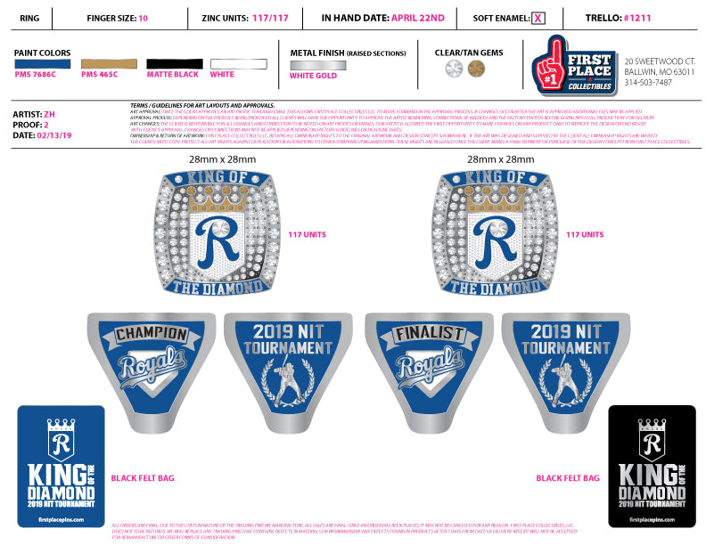 King of the Diamond Trophy Rings