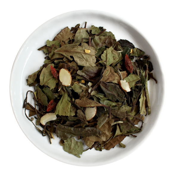 Amaretto Biscotti Loose Leaf Organic White Tea