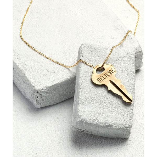 Gold Dainty XL Key Necklace