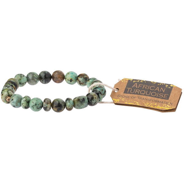 Stone Stacking Bracelet: African Turquoise