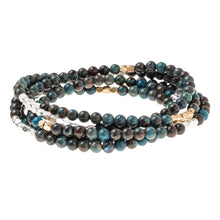 Stone Wrap Bracelet/Necklace: Blue Sky Jasper