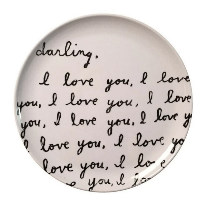Darling I Love You Plate