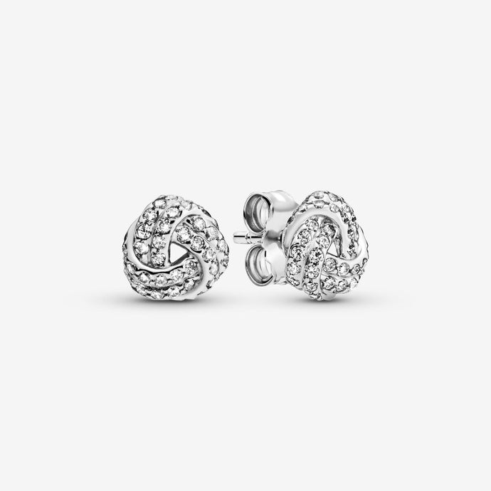 Studs Sparkling Love Knot