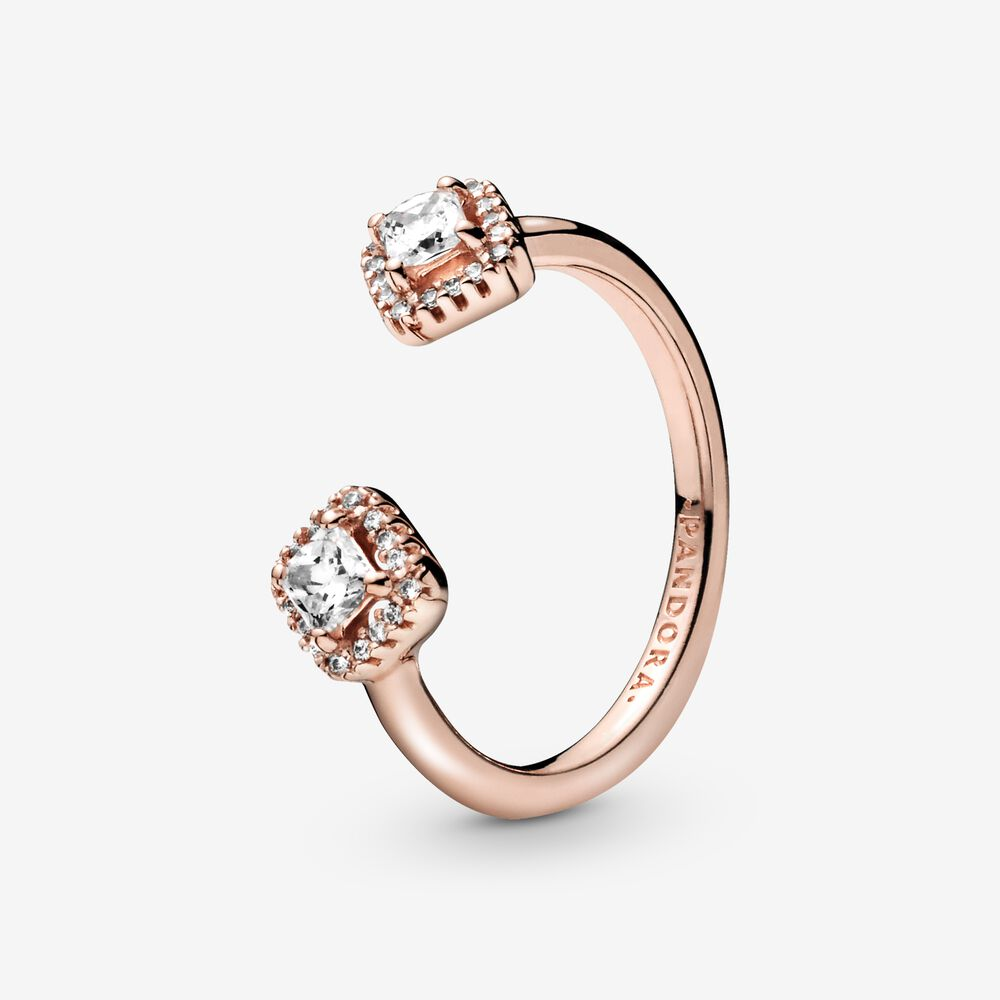 Pandora Rose Square Sparkle Open Ring