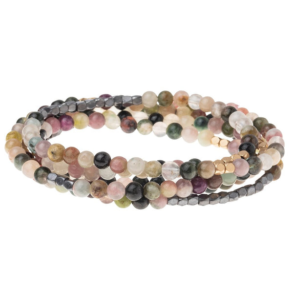 Stone Wrap Bracelet/Necklace: Tourmaline
