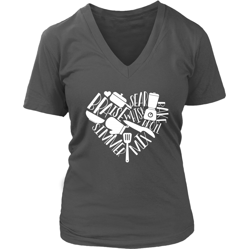 Love to Cook V-Neck T-Shirt