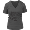 Lord Of The Grill Ladies V-Neck T-Shirt