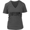 Mother of Cats Ladies V-Neck T-Shirt