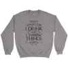Drink and Throw Footballs Crewneck Sweatshirt