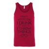 Drink and Throw Footballs Unisex Tank