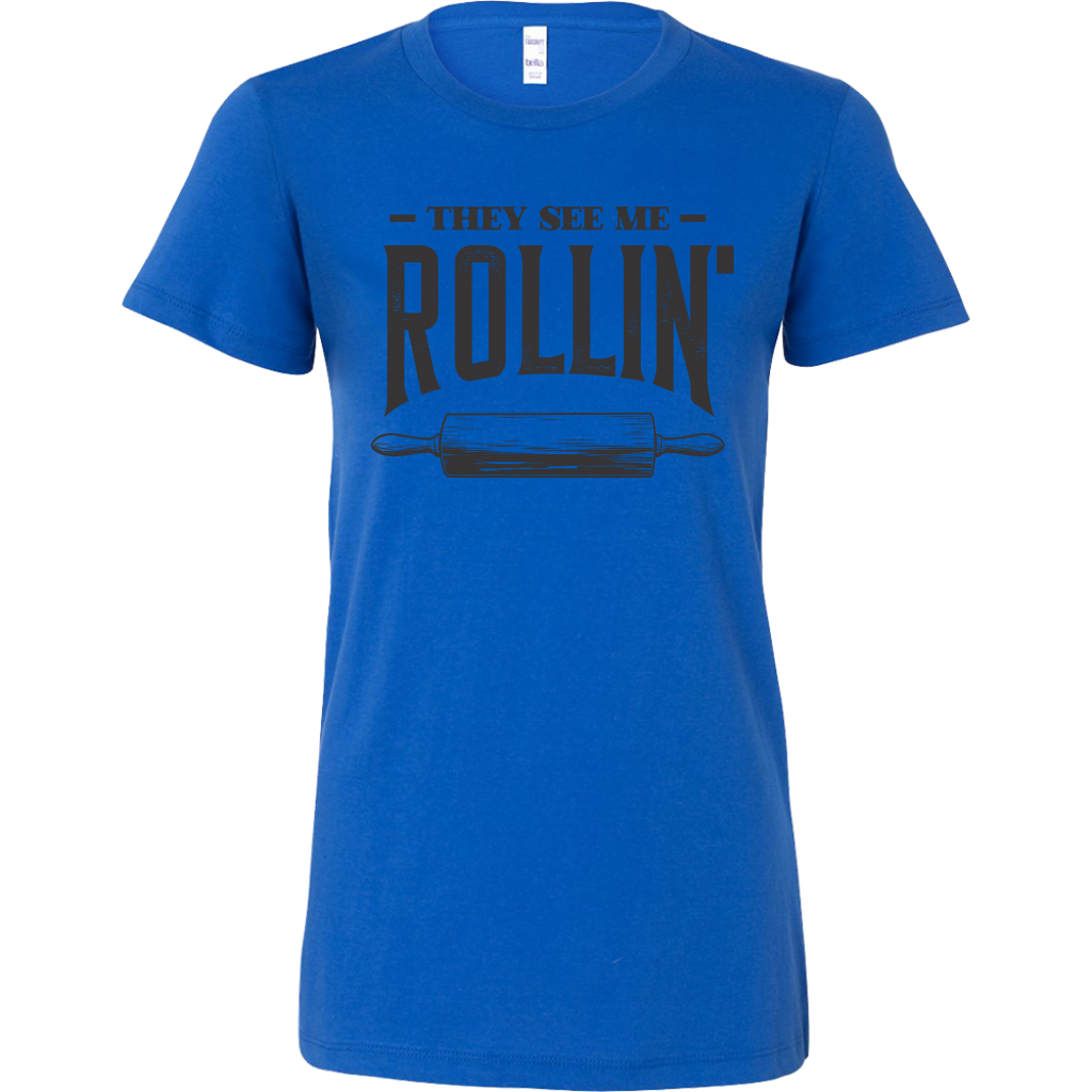 They See Me Rollin' Ladies Fitted T-Shirt