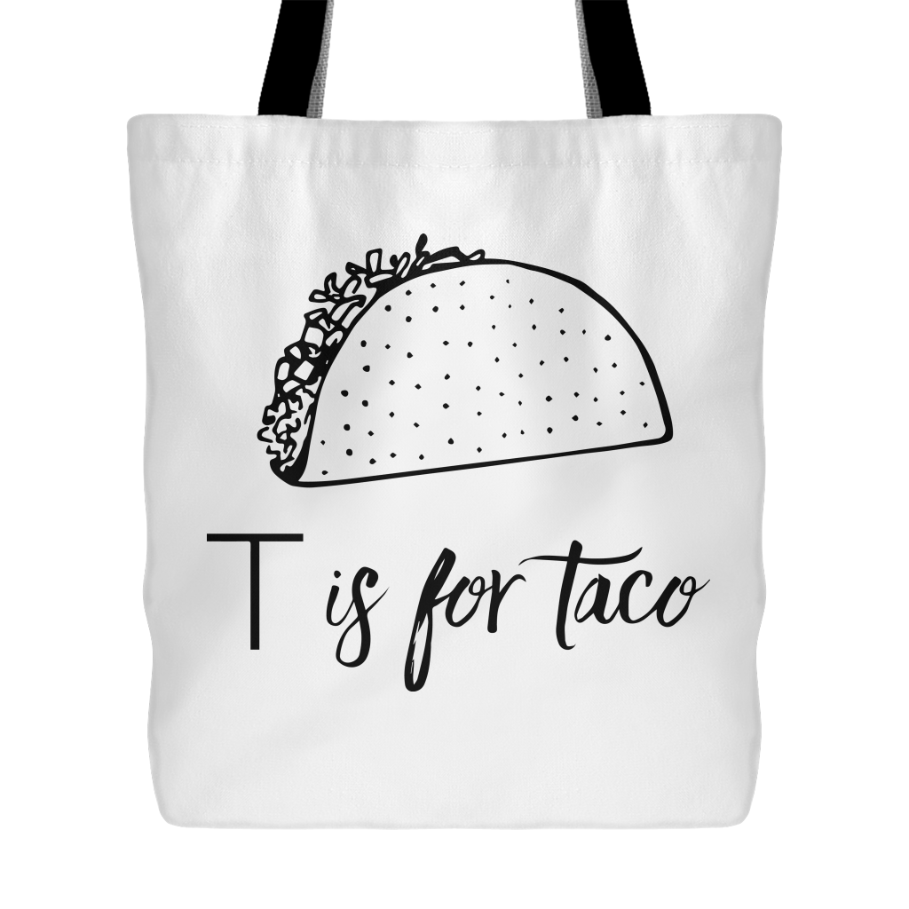 T is for Taco Tote Bag