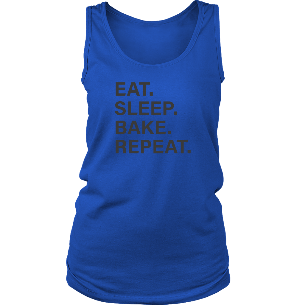 Eat Sleep Bake Repeat Ladies Tank