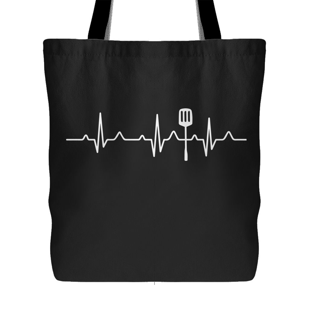 Heartbeat of a Cook Tote Bag