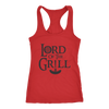 Lord Of The Grill Ladies Racerback Tank