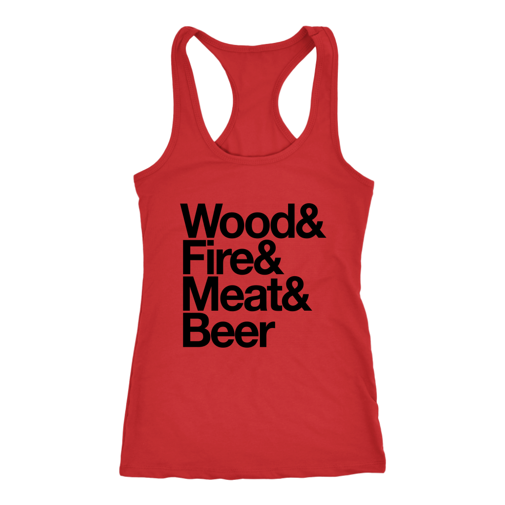 Camping Essentials Ladies Racerback Tank