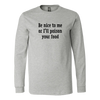 Poison Your Food Long Sleeve T-Shirt