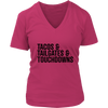 Tailgating Essentials Ladies V-Neck T-Shirt