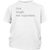 Live Laugh Cupcakes Youth T-Shirt