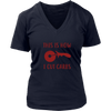 How I Cut Carbs Ladies V-Neck T-Shirt