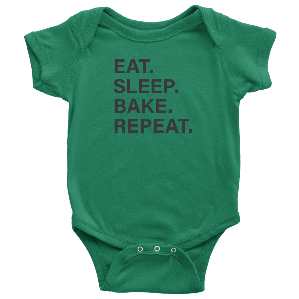 Eat Sleep Bake Repeat Onesie
