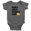 That's What Cheese Said Onesie