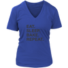 Eat Sleep Bake Repeat V-Neck T-Shirt