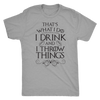 Drink and Throw Footballs Mens T-Shirt