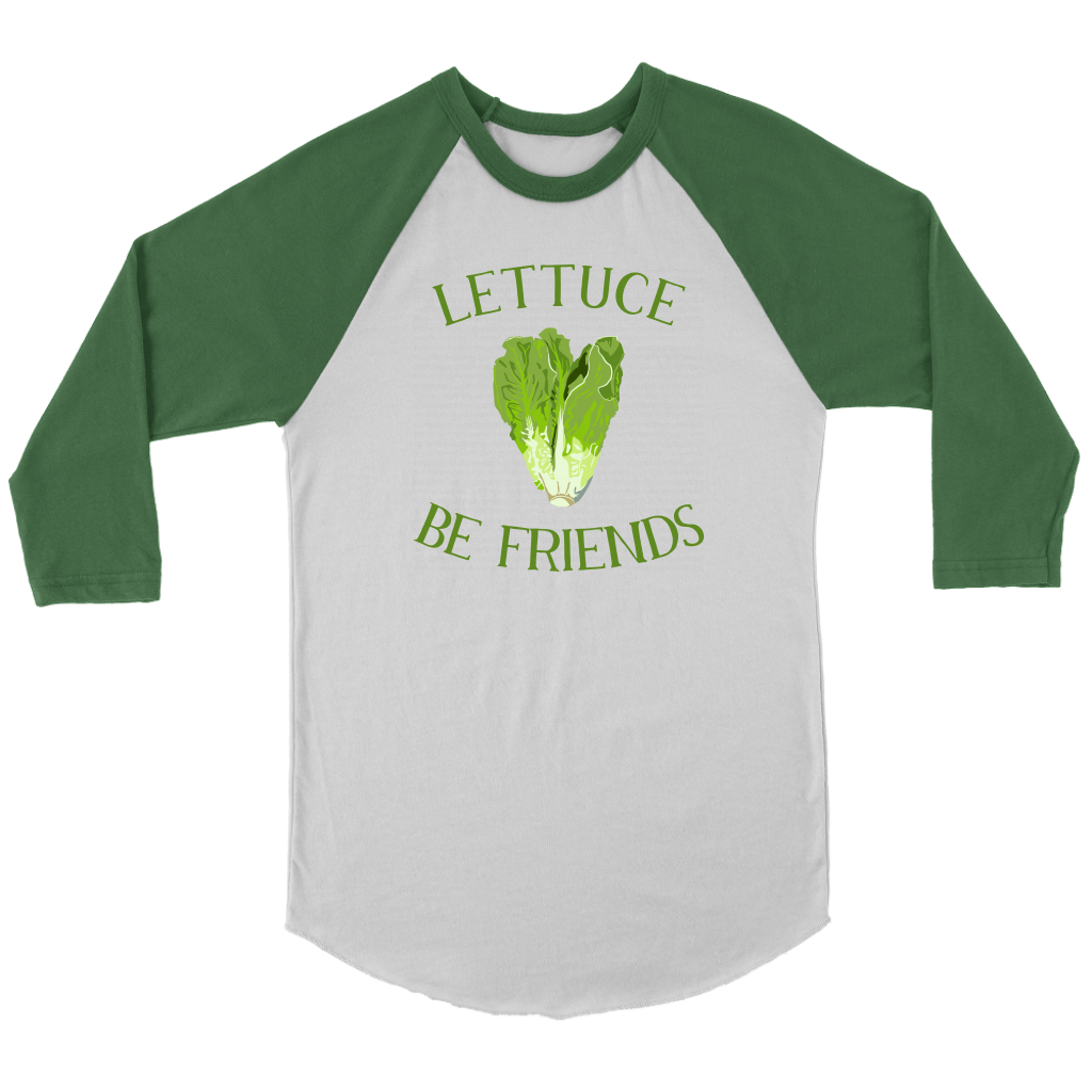 Lettuce Be Friends Baseball Tee