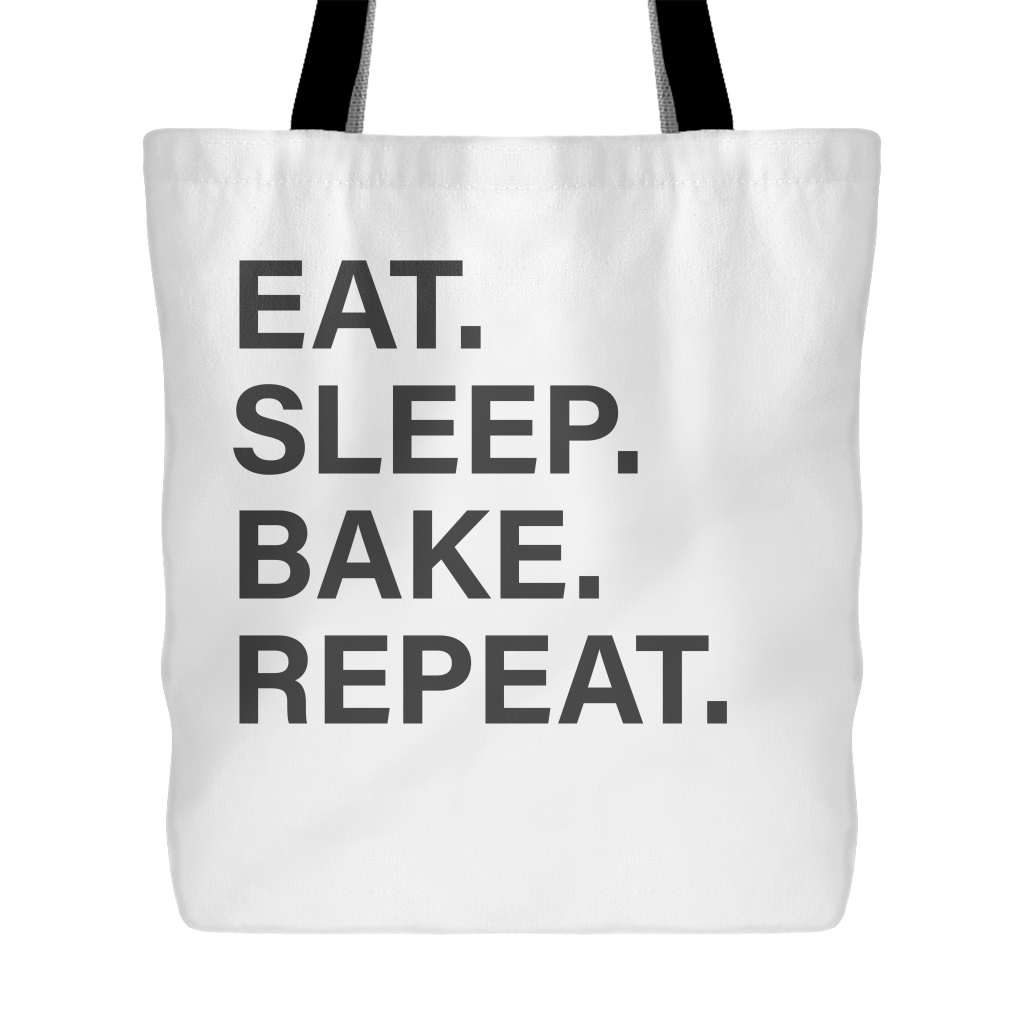 Eat Sleep Bake Repeat Tote Bag