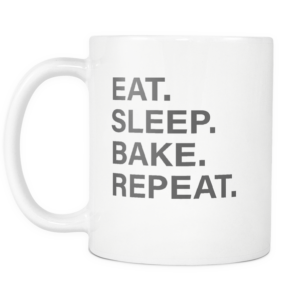 Eat Sleep Bake Repeat Mug