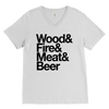 Camping Essentials Mens V-Neck T-Shirt