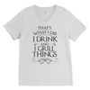I Drink And I Grill Things Mens V-Neck T-Shirt