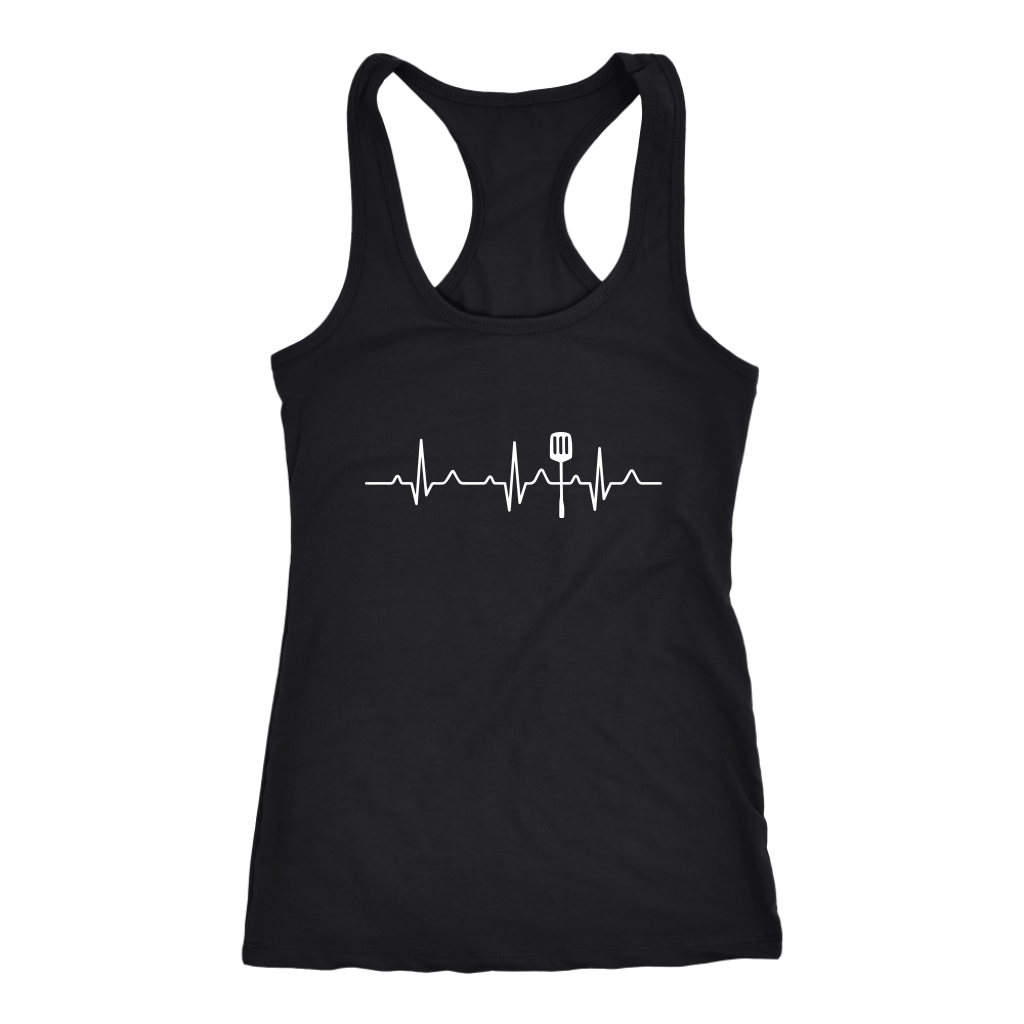 Heartbeat of a Cook Racerback Tank