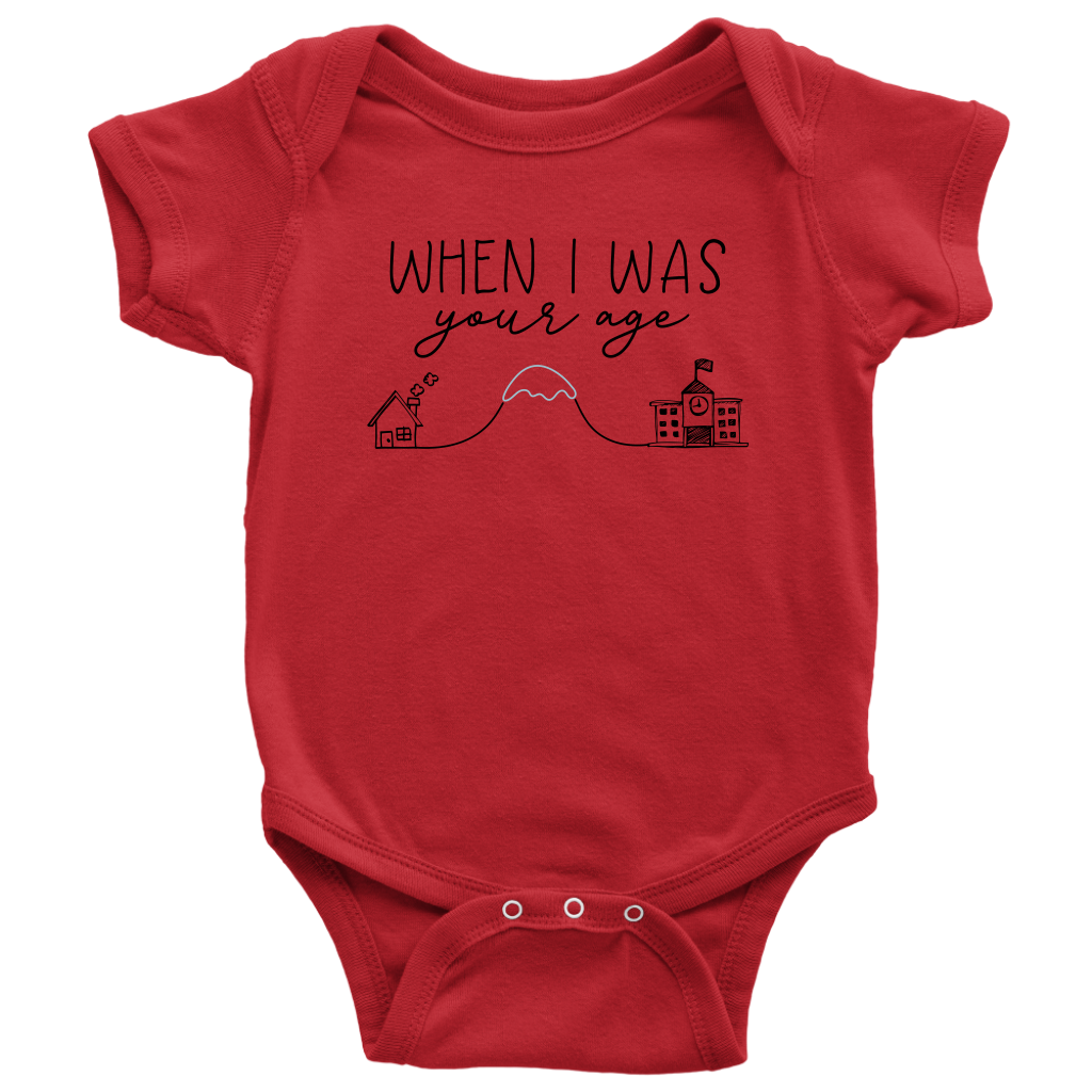Uphill Both Ways Onesie