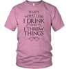 Drink and Throw Footballs Unisex T-Shirt