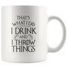 Drink and Throw Footballs Mug