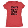Donuts Are My Spirit Animal Ladies T-Shirt