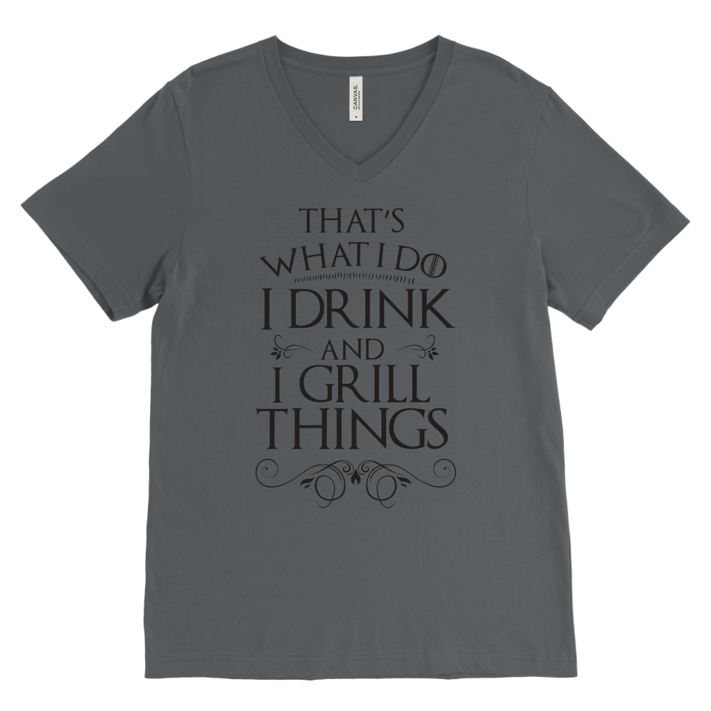I Drink And I Grill Things Mens V-Neck