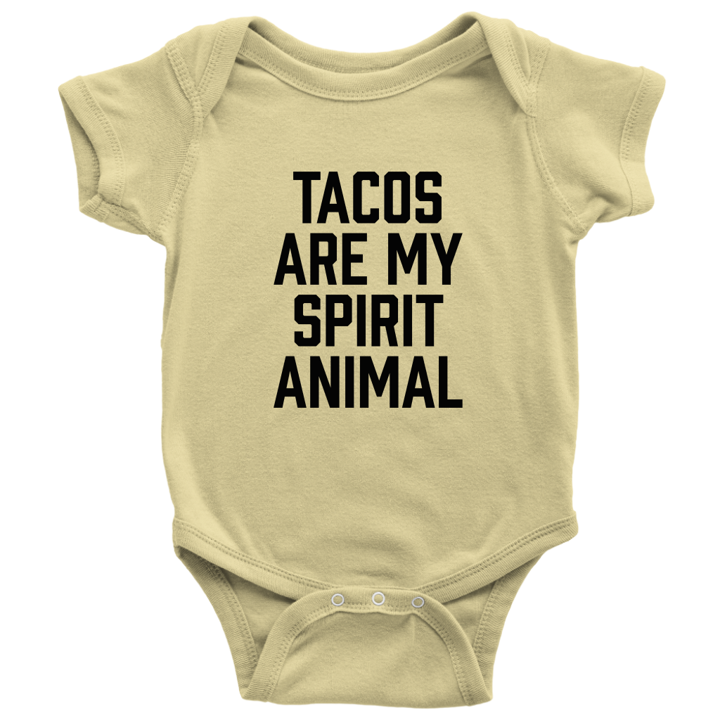 Tacos Are My Spirit Animal Onesie