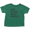 Eat Sleep Bake Repeat Toddler T-Shirt