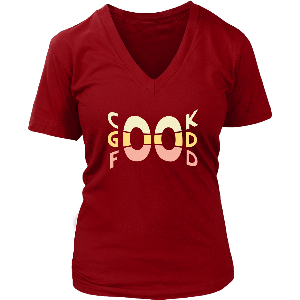 Cook Good Food Ladies T-Shirt